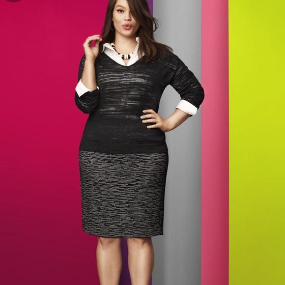 Lane Bryant Dresses & Skirts - Lane Bryant Digital Dash Pencil Skirt NWOT Size 18
